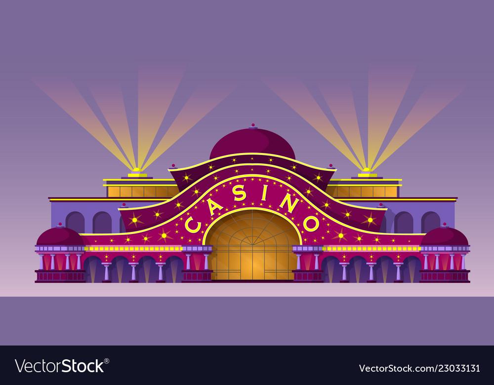 Facade of a casino building
