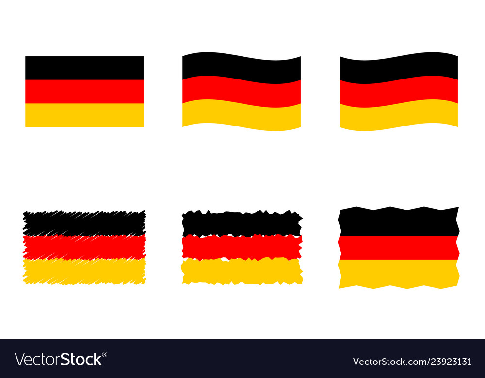 Germany flag set official colors and proportion