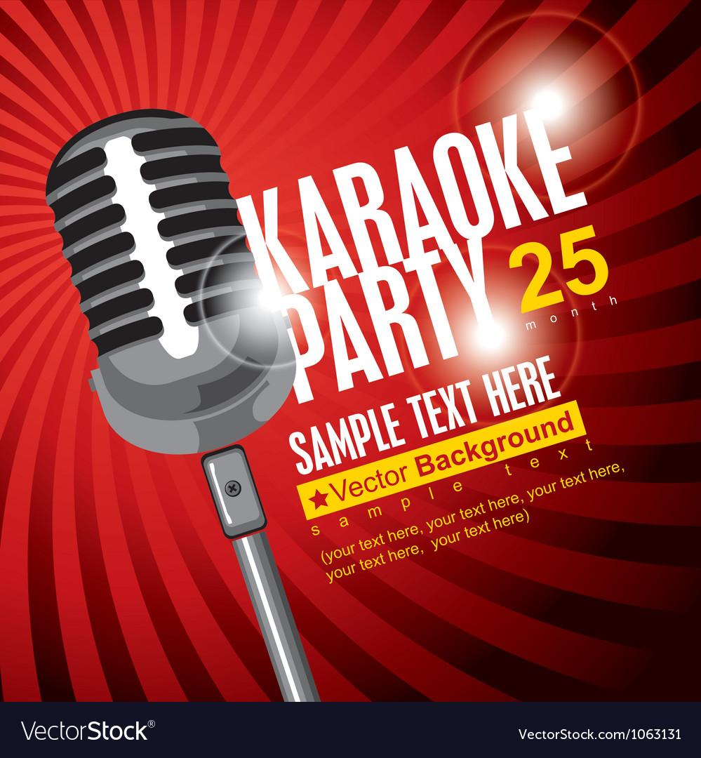 Karaoke poster