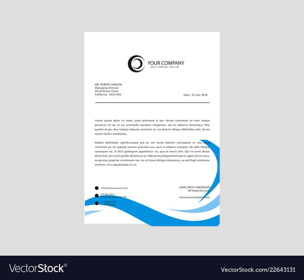 letterhead design template royalty free vector image