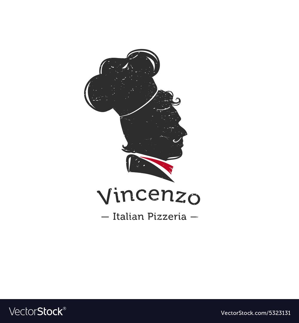 Retro Logo For Italian Restaurant Cook Royalty Free Vector