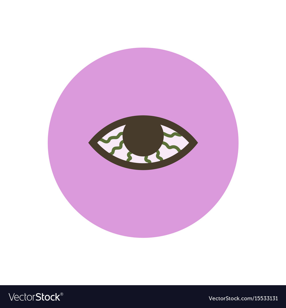 Stylish icon in color circle vision problems