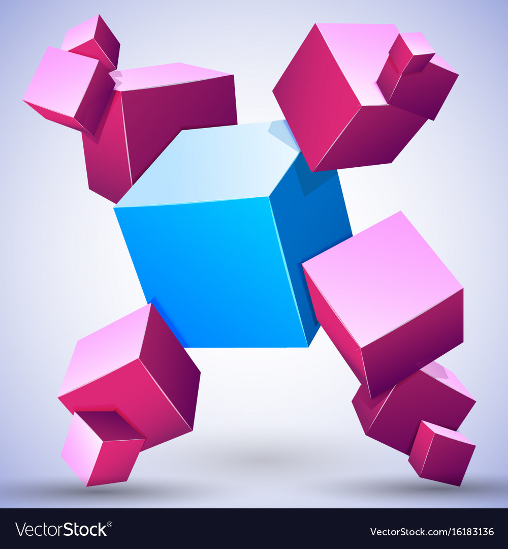 3d abstract composition
