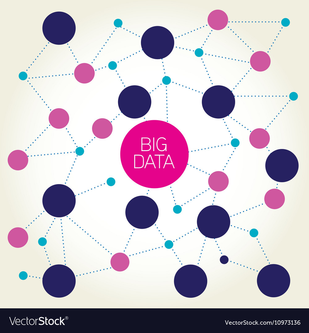 Big data abstract molecule