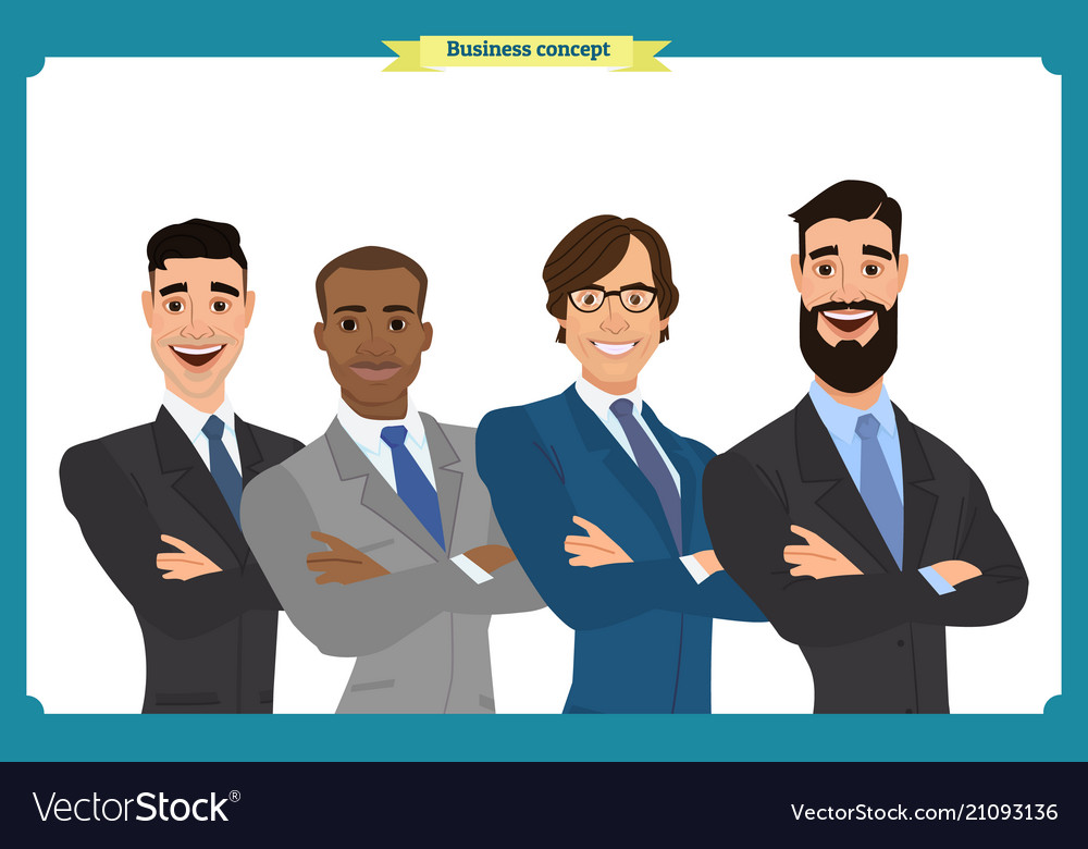 Businessman doing different gestures character