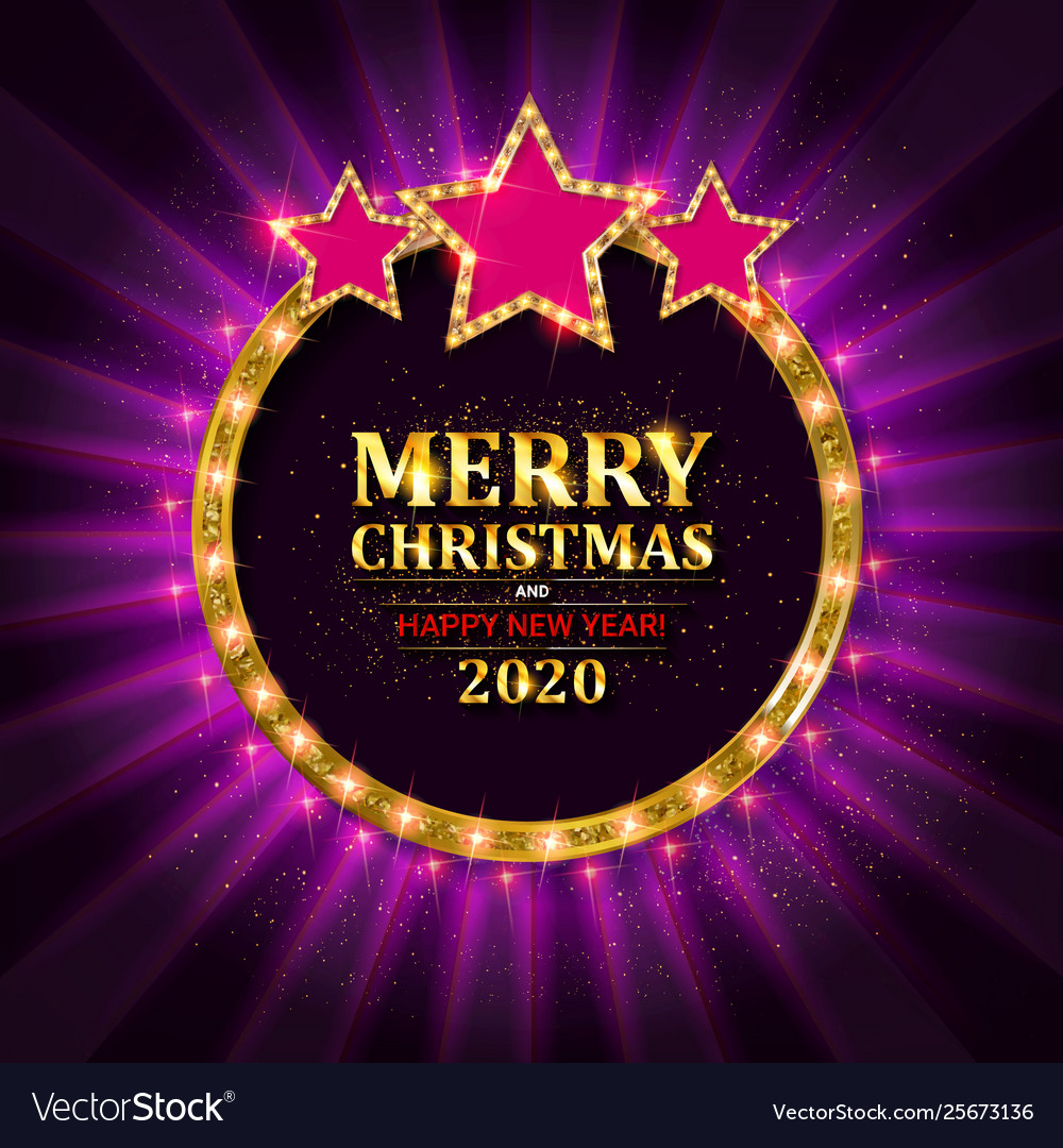 Happy new year 2020 and merry christmas
