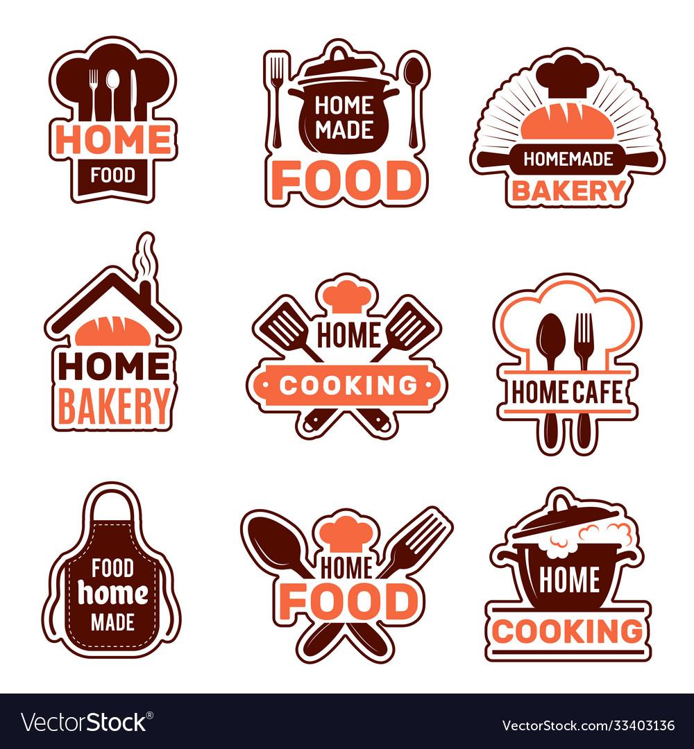 Home cooking logo kitchen badges