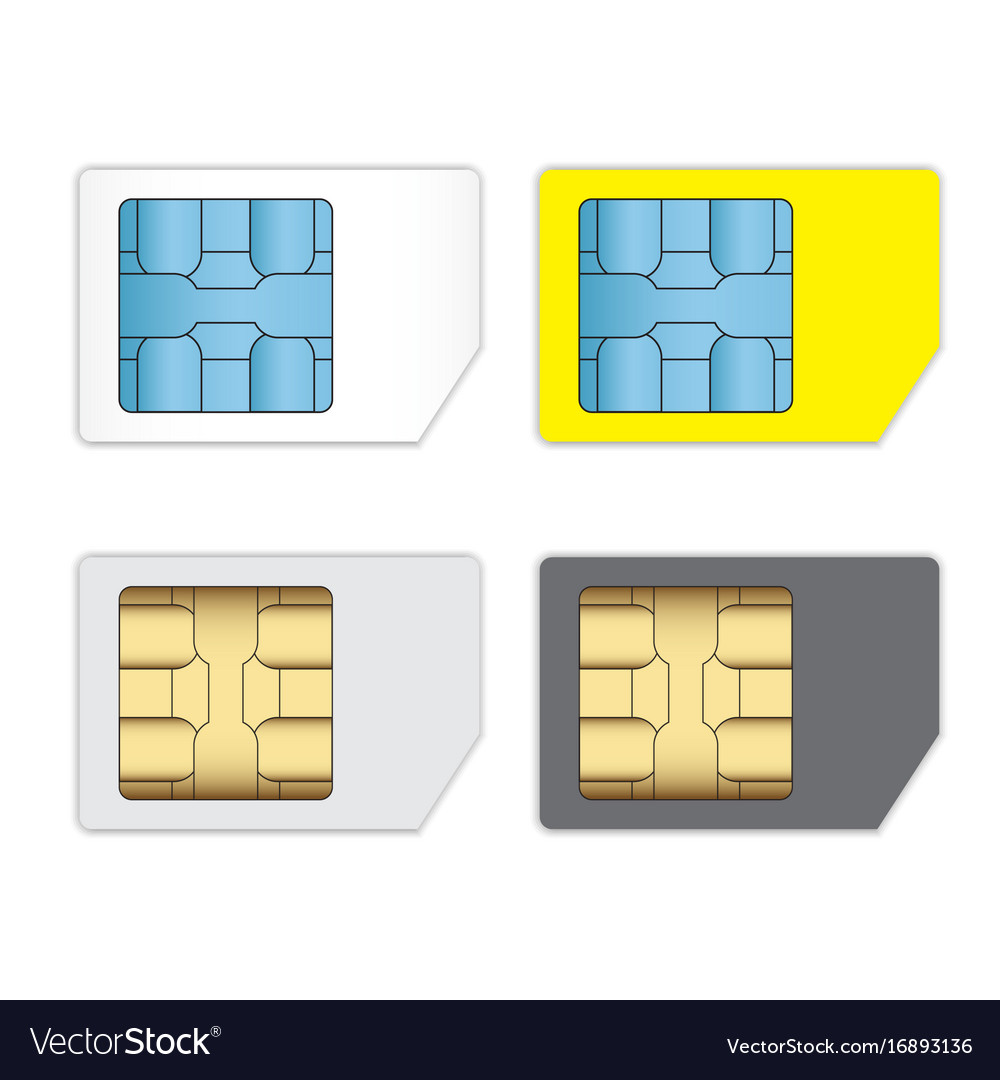 Sim cards for mobile phones isolated on white