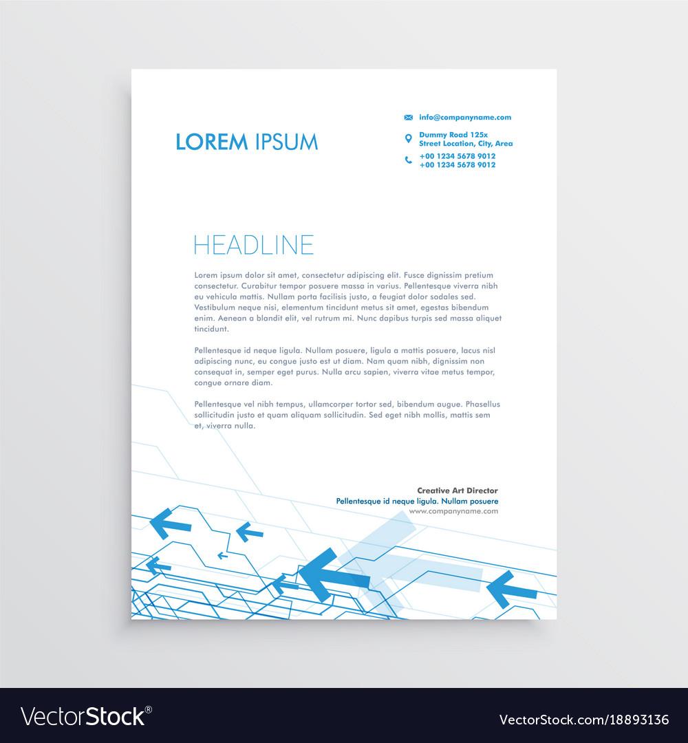 Simple arrow letterhead template design royalty free vector simple arrow letterhead template design vector image spiritdancerdesigns Images