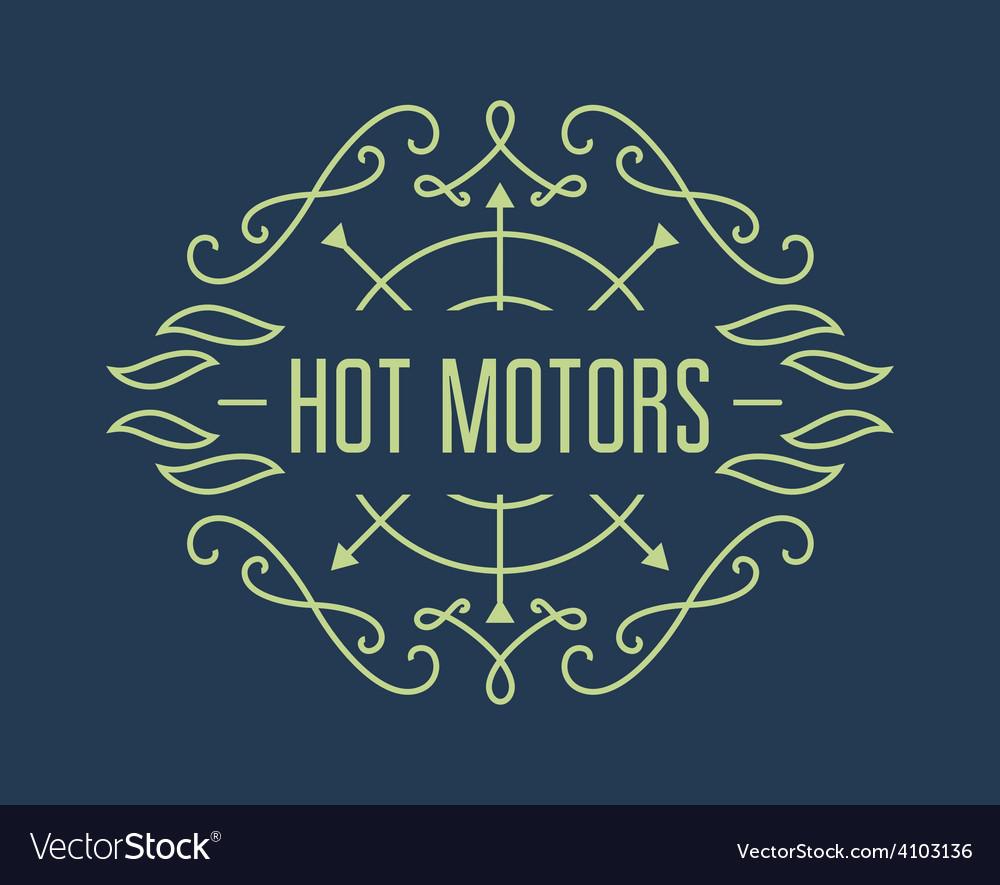 Vintage motorcycle labels badges or design