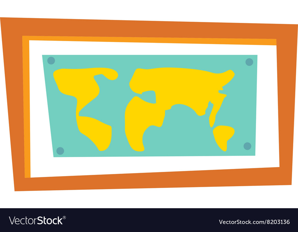 World map countries picture frame travel geography world map countries picture frame travel geography vector image gumiabroncs Image collections