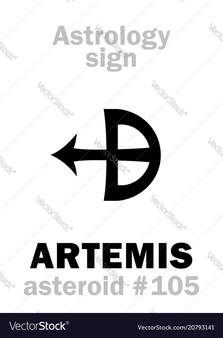 Astrology Asteroid Artemis Royalty Free Vector Image