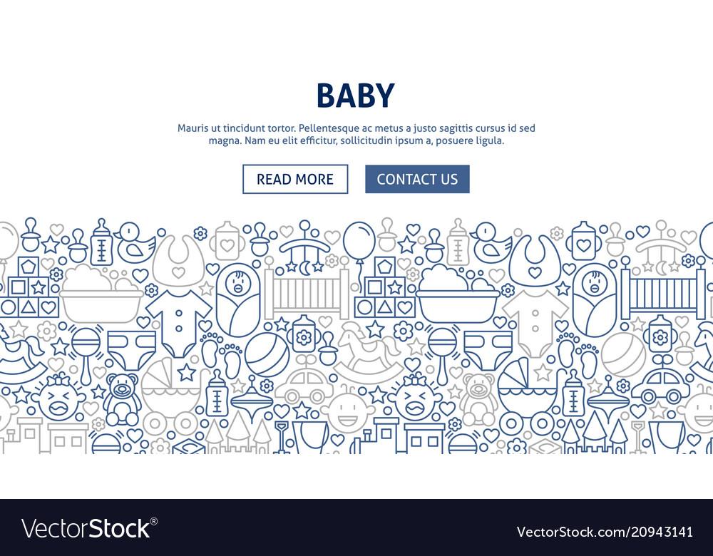 Baby banner design