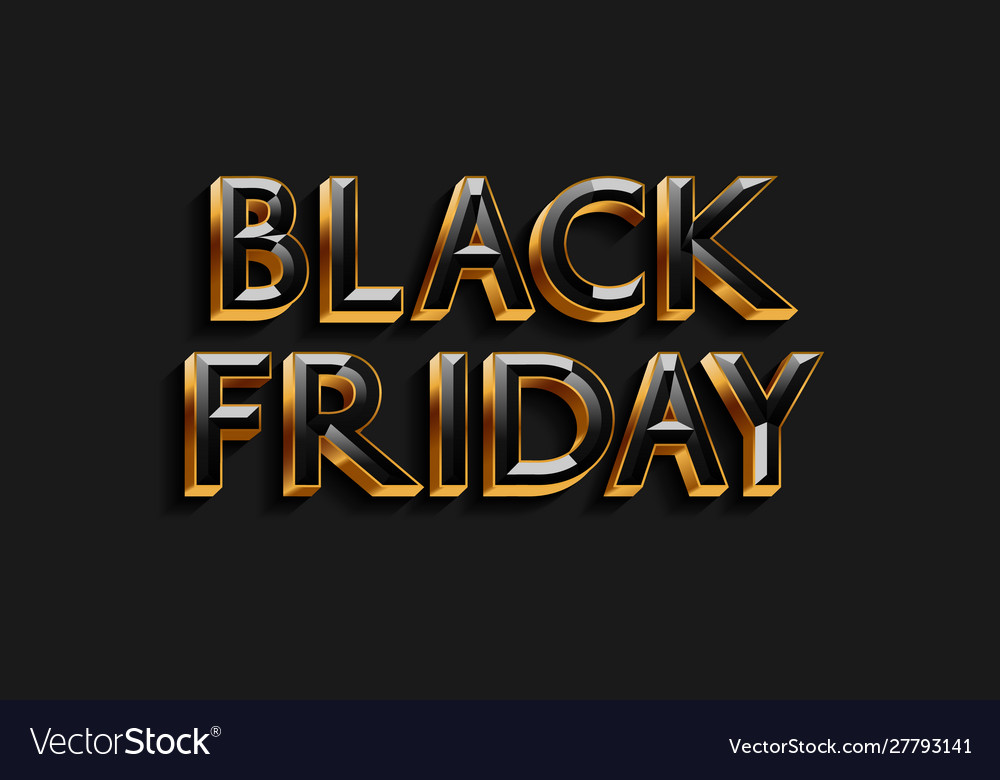 Black friday text design for banner poster