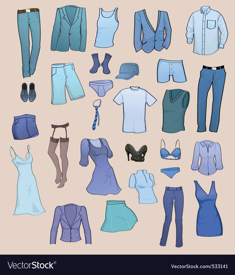 clothing templates royalty free vector image vectorstock
