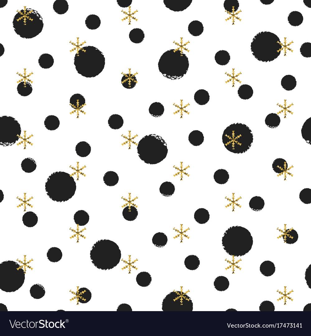 Glitter gold polka dot christmas new year seamless