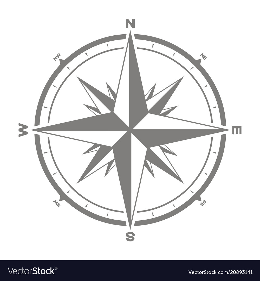 Icon with compass rose