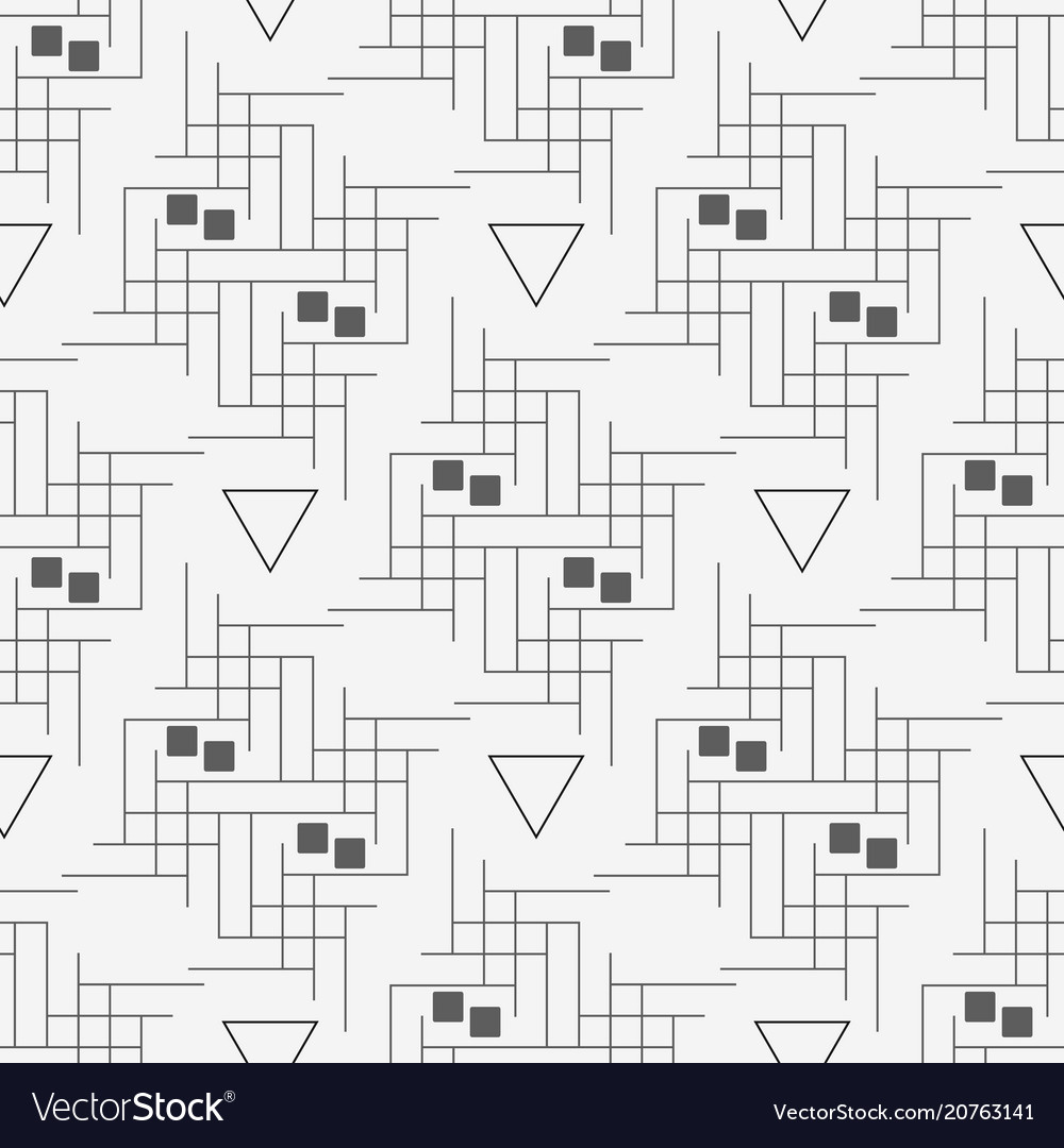 Line and triangle seamless pattern modern