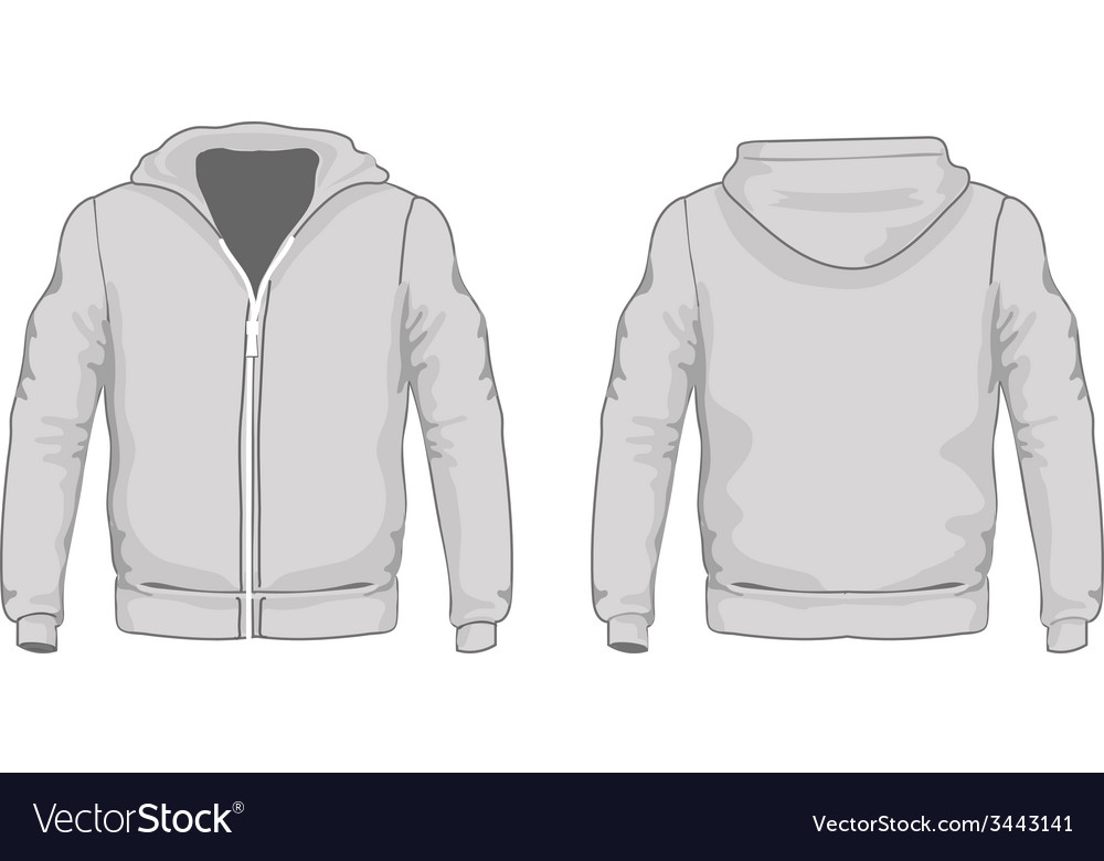 Mens hoodie shirts template Front and back views