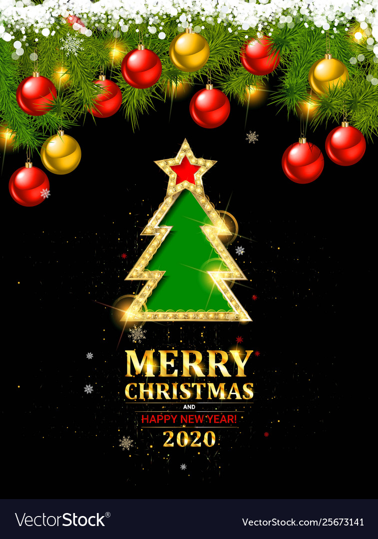 Merry Christmas Logo 2020 Merry christmas and happy new year 2020 Royalty Free Vector