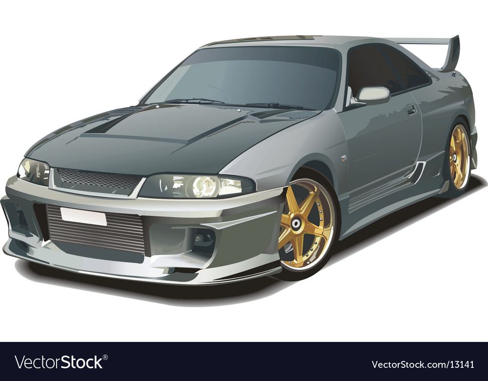 Modern sports car vector image