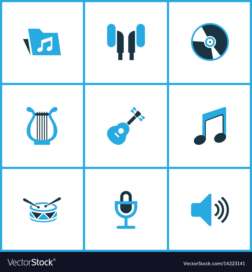 Multimedia colored icons set collection of