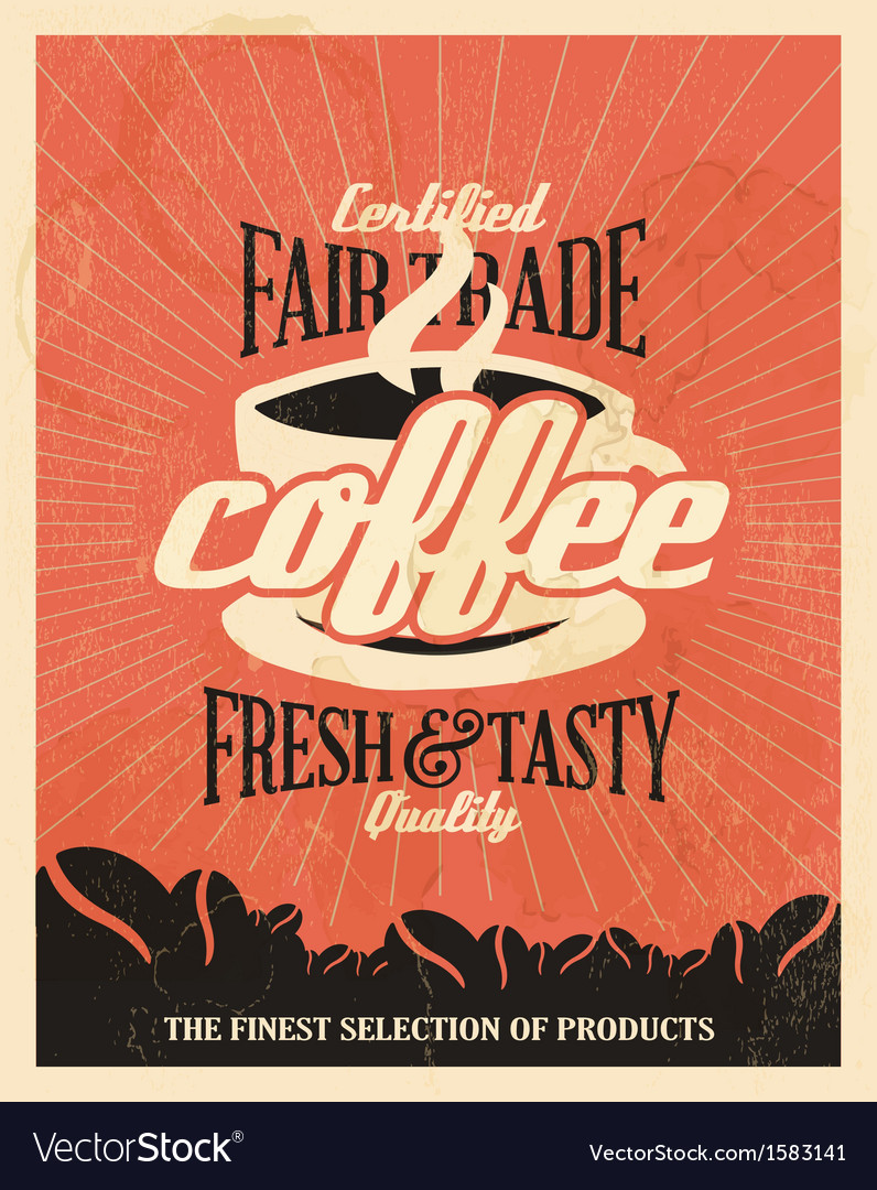 Retro Vintage Coffee Background with Typography