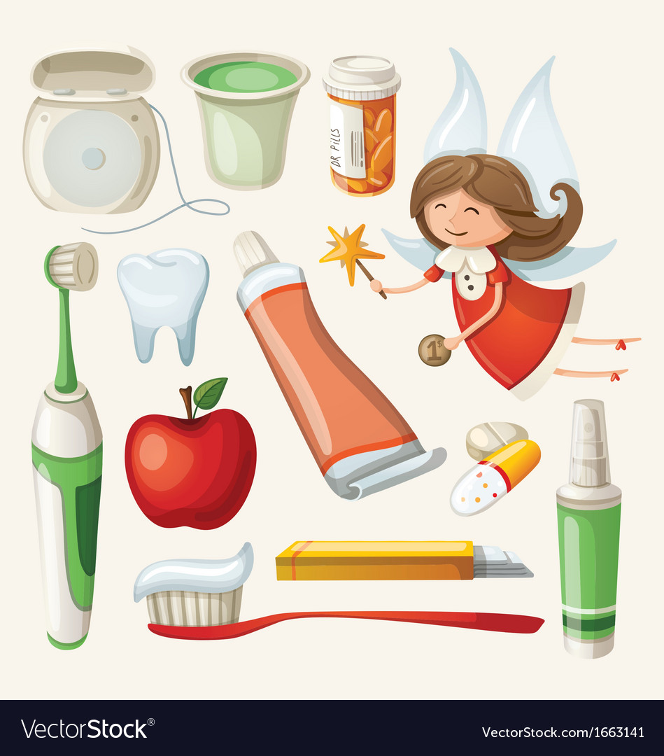 Set items for keeping your teeth healthy