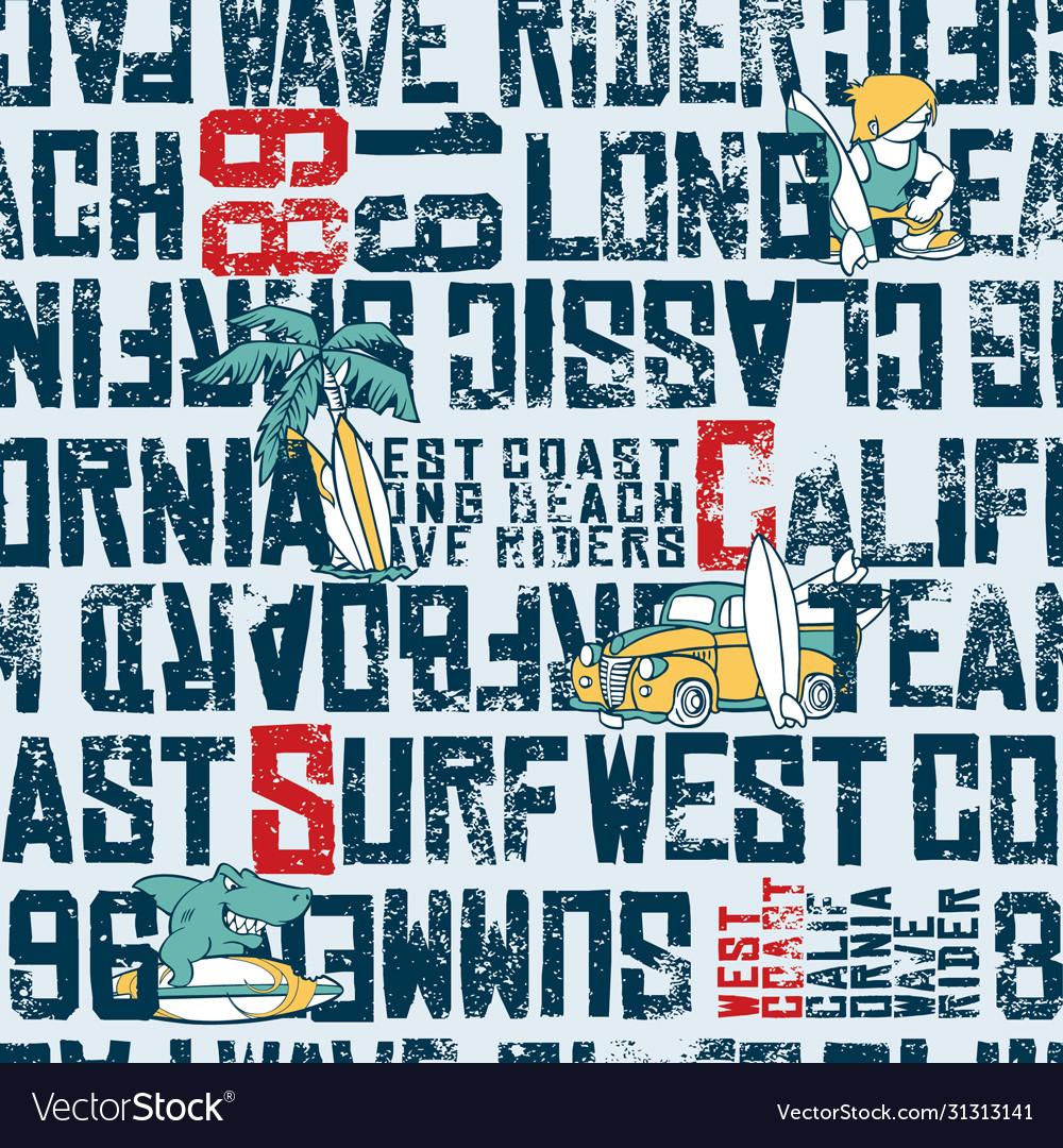 Wave rider west coast california surfing team