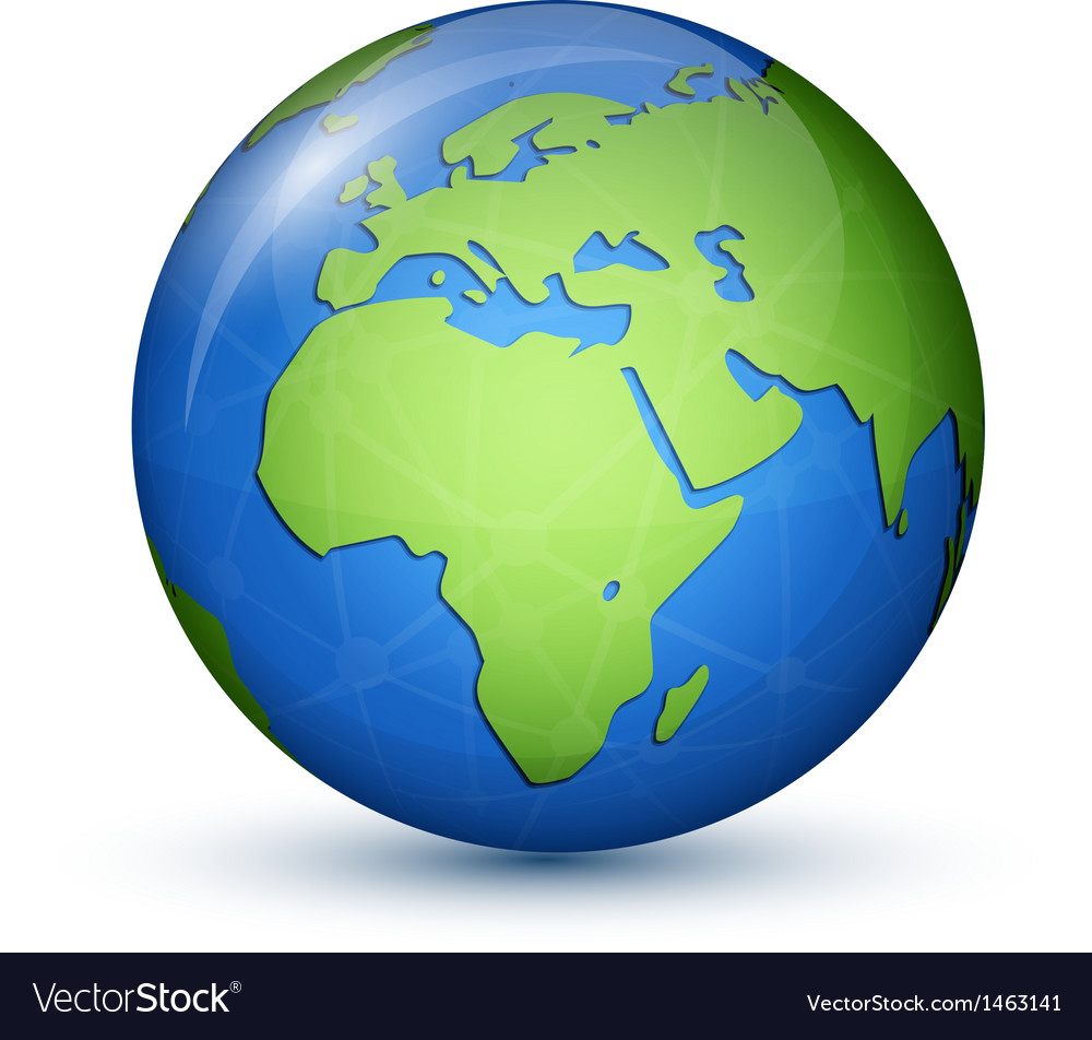 Globe Map Pictures.World Globe Map Africa Europe Royalty Free Vector Image