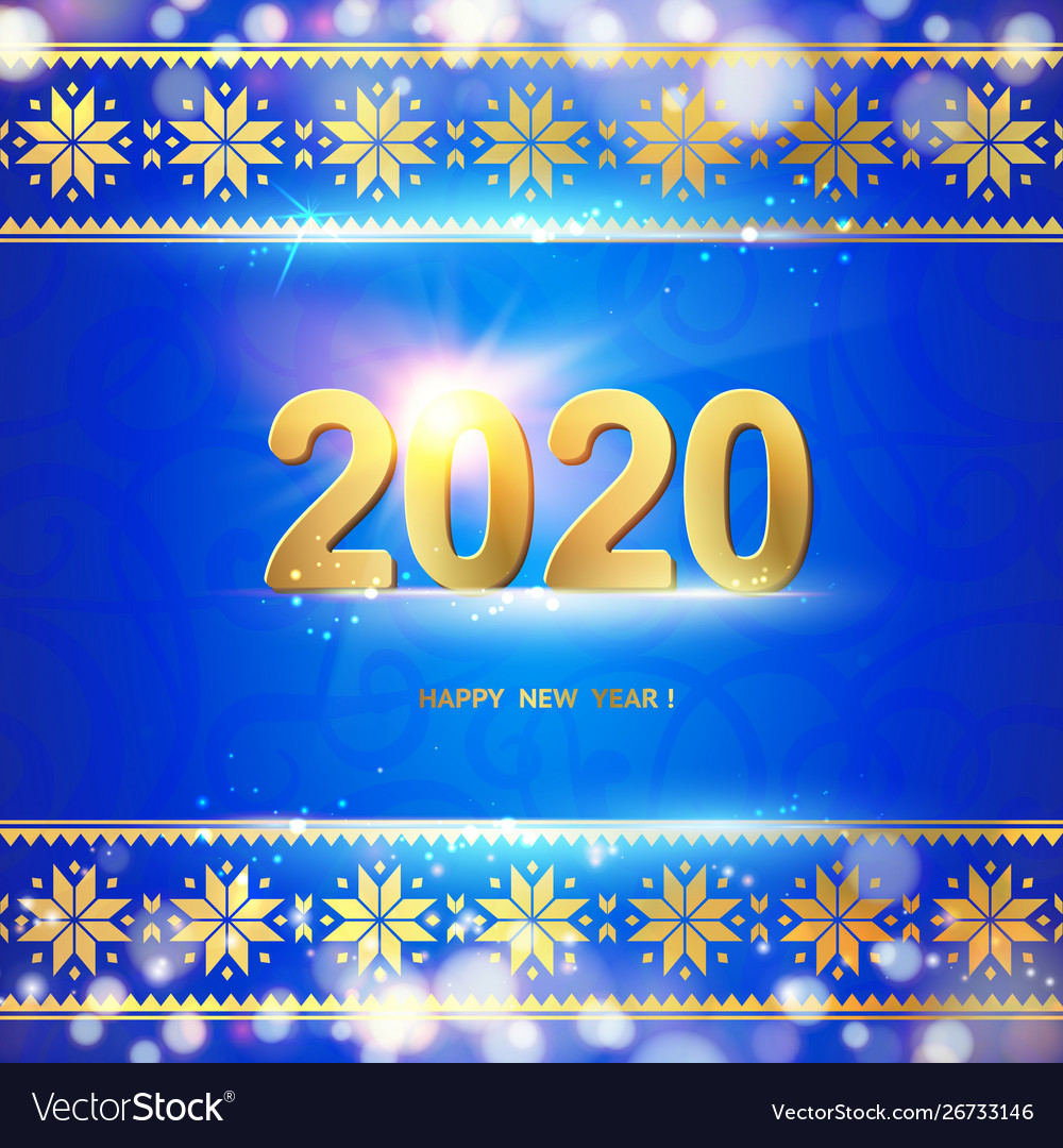 2020 year calendar design template holiday label