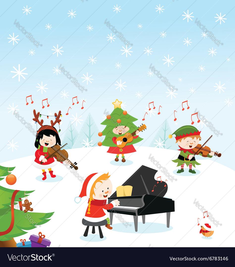 Christmas Music vector image