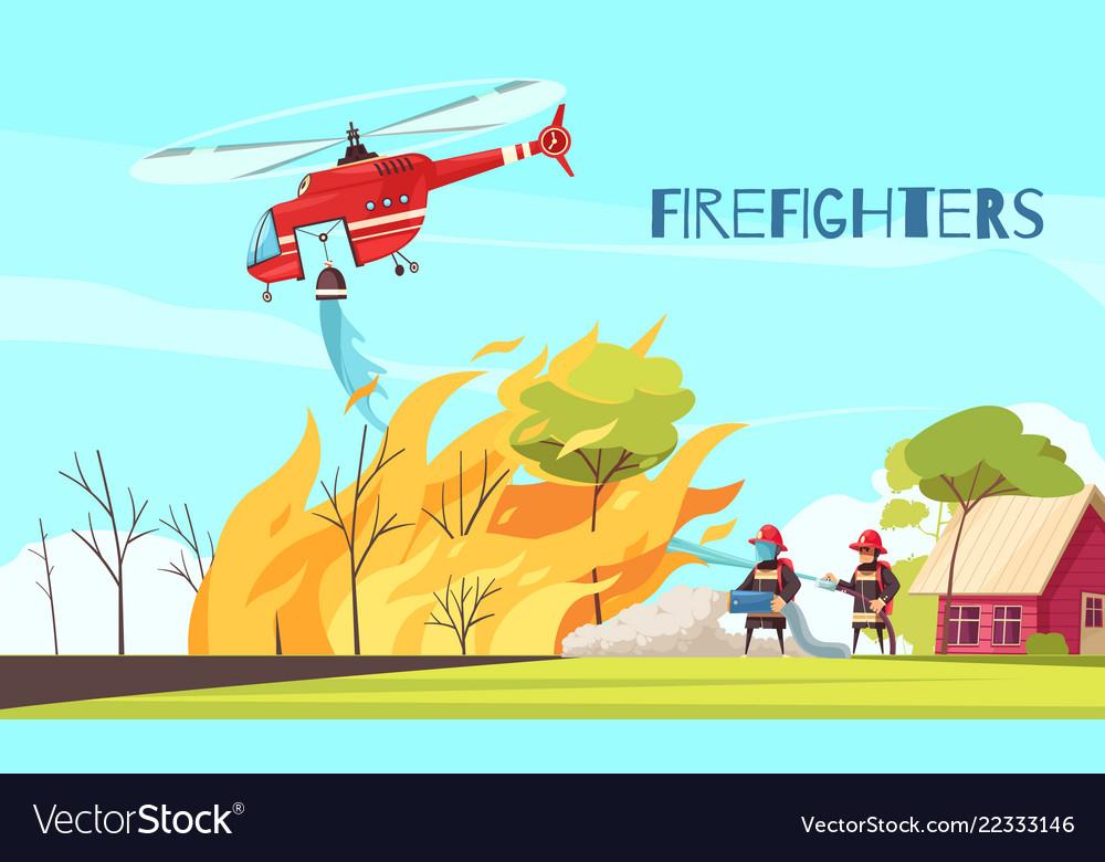 Fighting wild fire background
