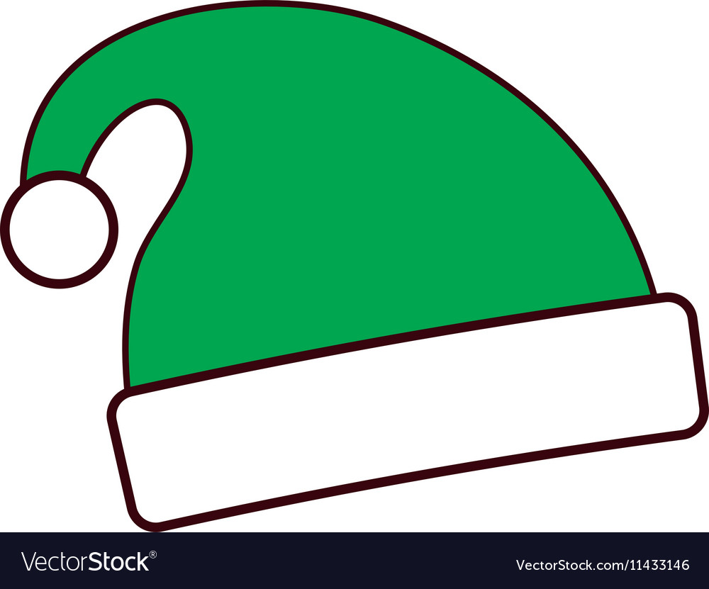 06352165b7333 Merry christmas hat isolated icon Royalty Free Vector Image