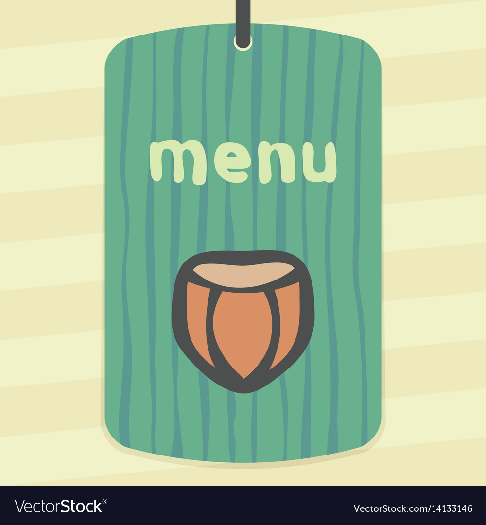 Outline hazelnut icon modern infographic logo vector image