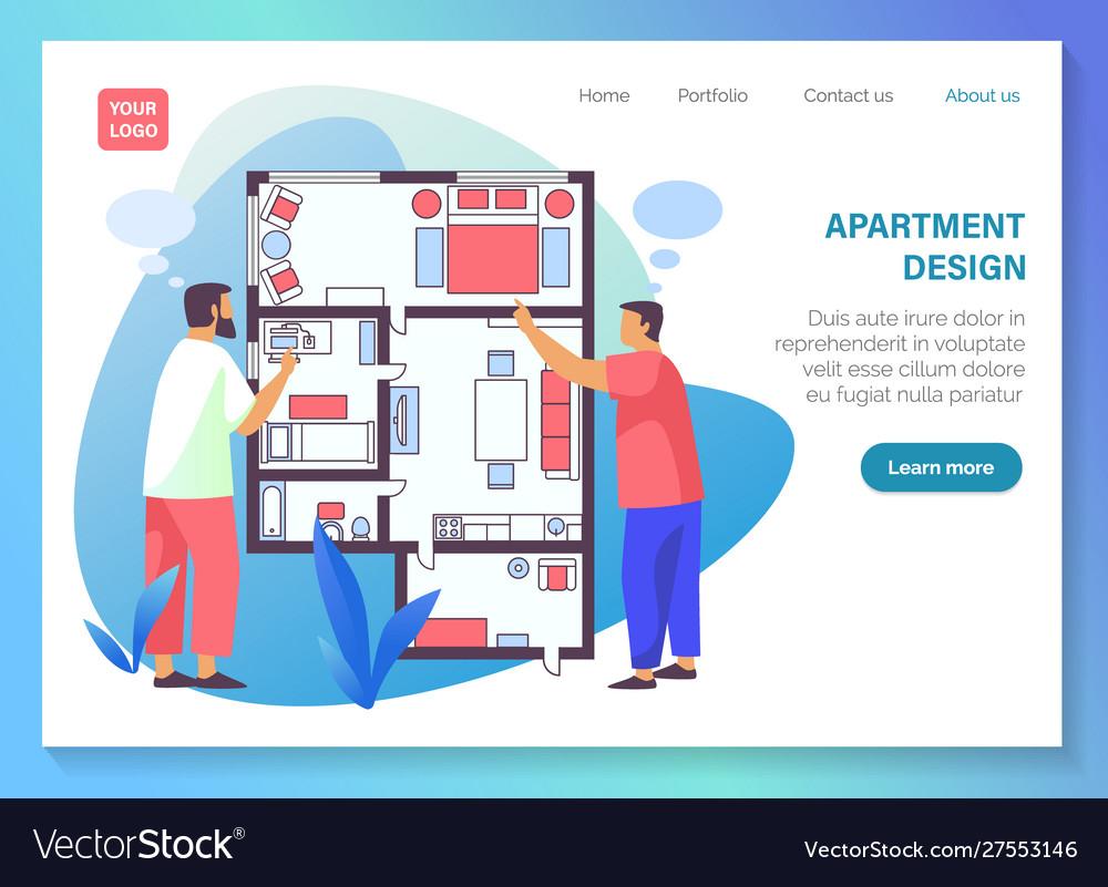 Interior Design Service Vector Image