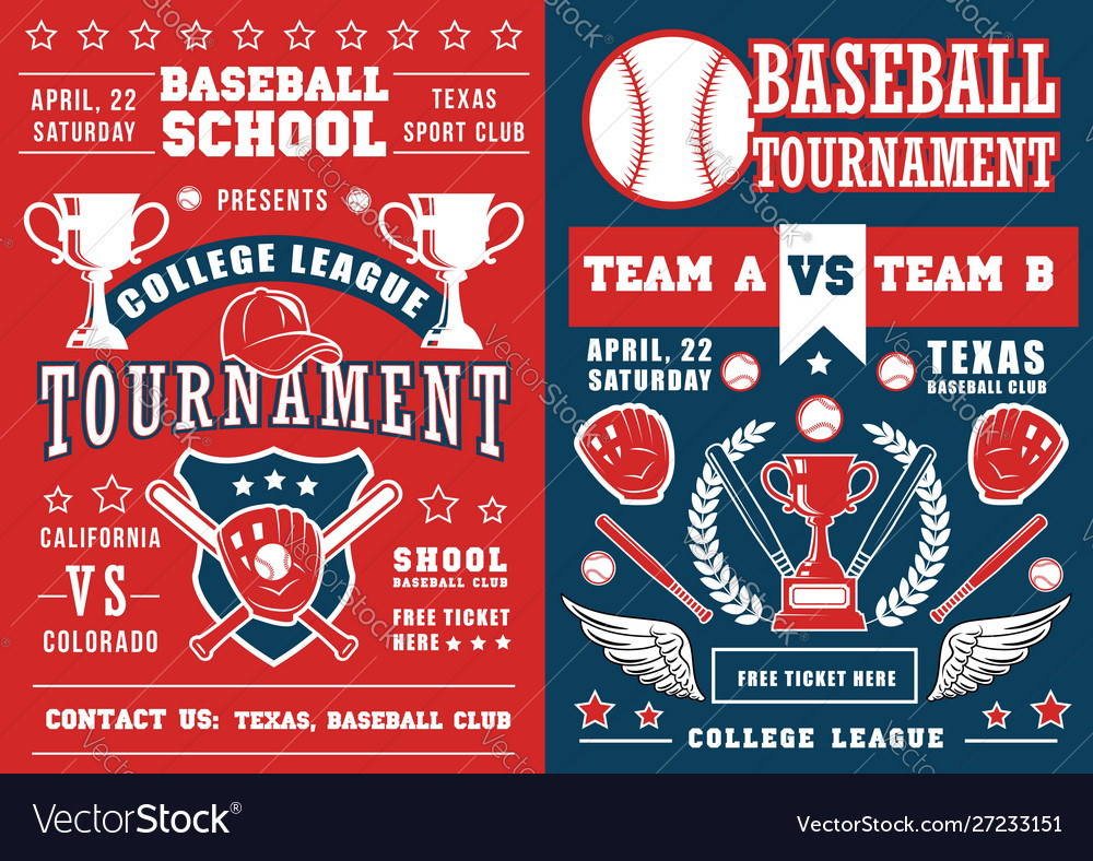 Baseball sport game poster ball and bat