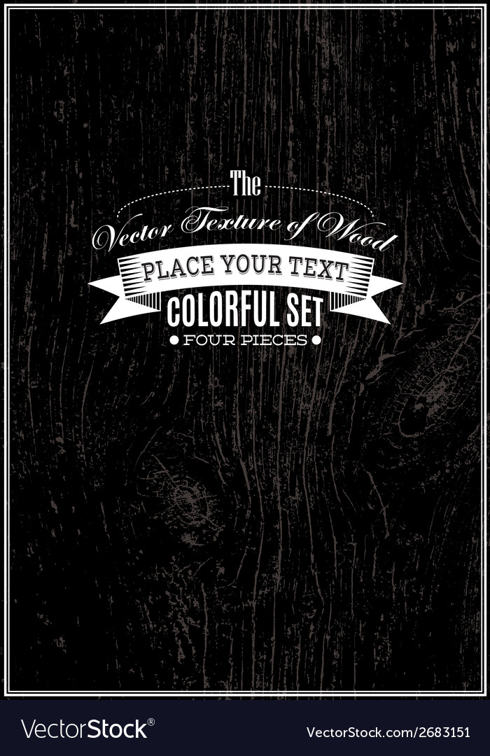 Black background with wood texture vector image