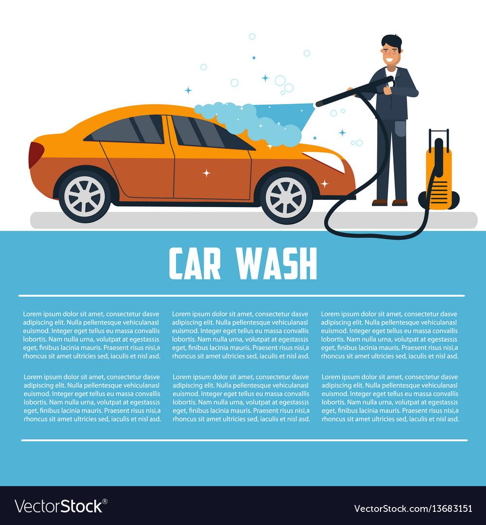 car wash template royalty free vector image vectorstock