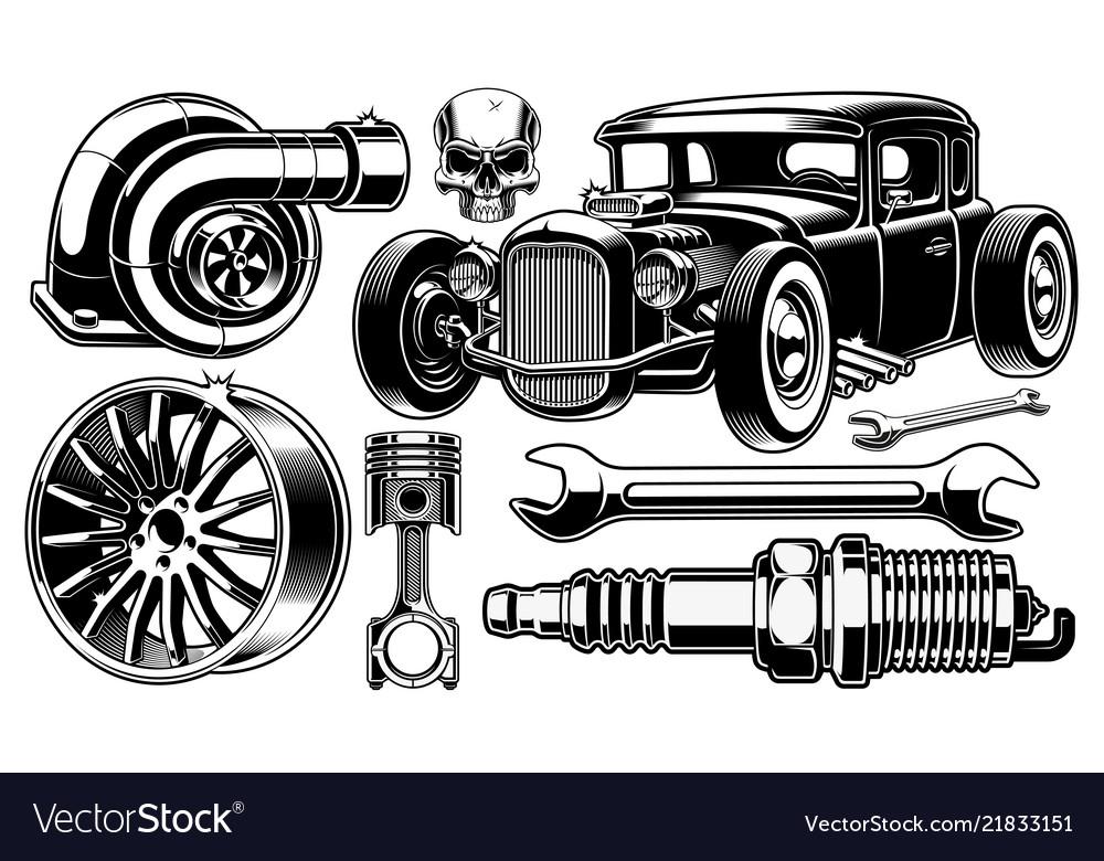 Design elements car repair