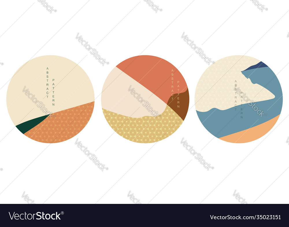 Geometric background with japanese pattern