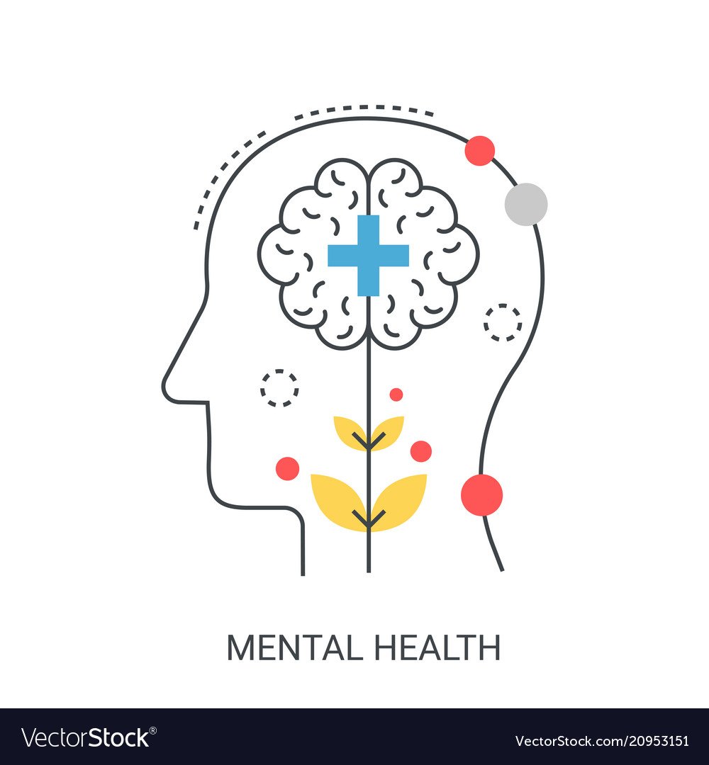 Mental Health Concept Royalty Free Vector Image