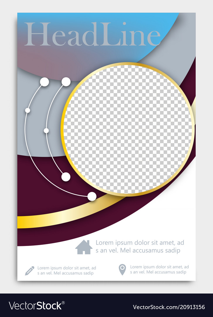 Flyer Template Brochure Design Editable A4 Poster Vector Image