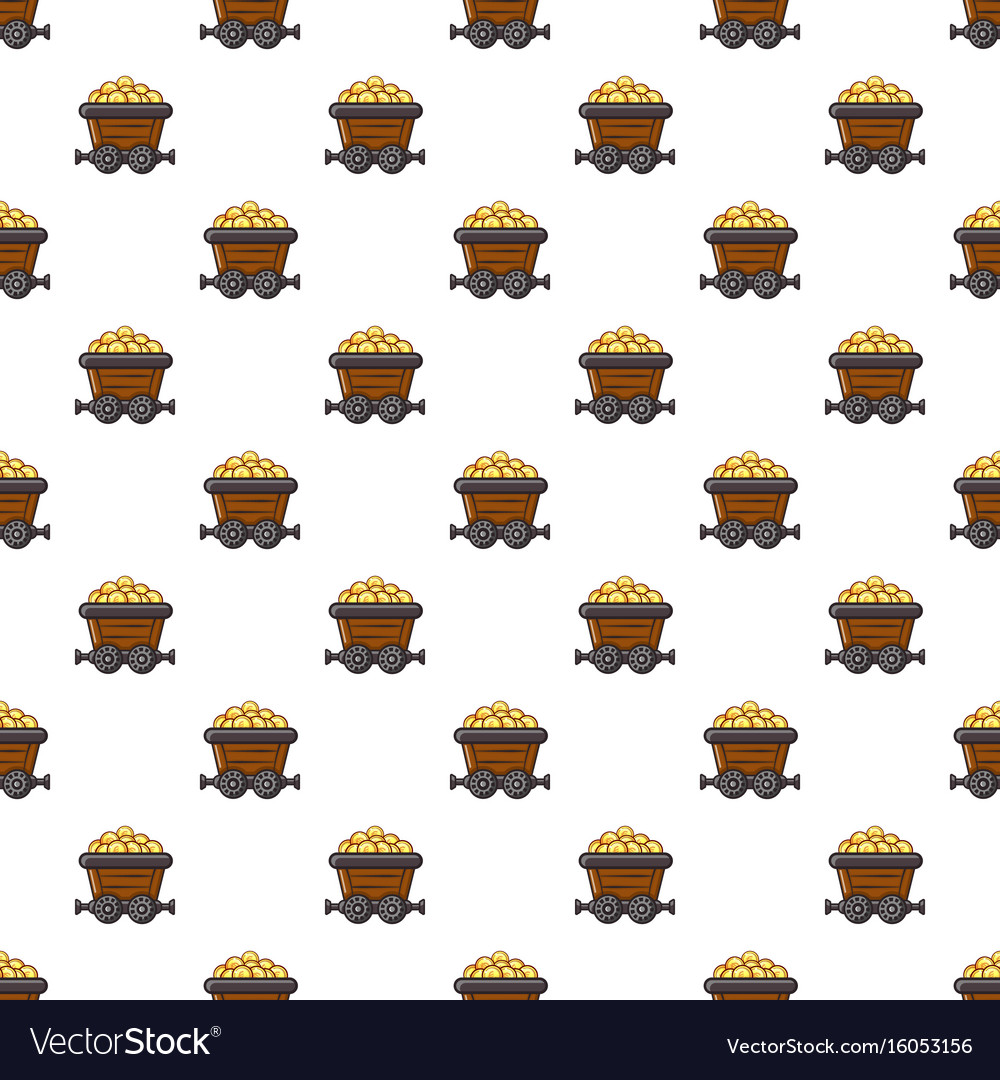 Money trolley pattern vector image