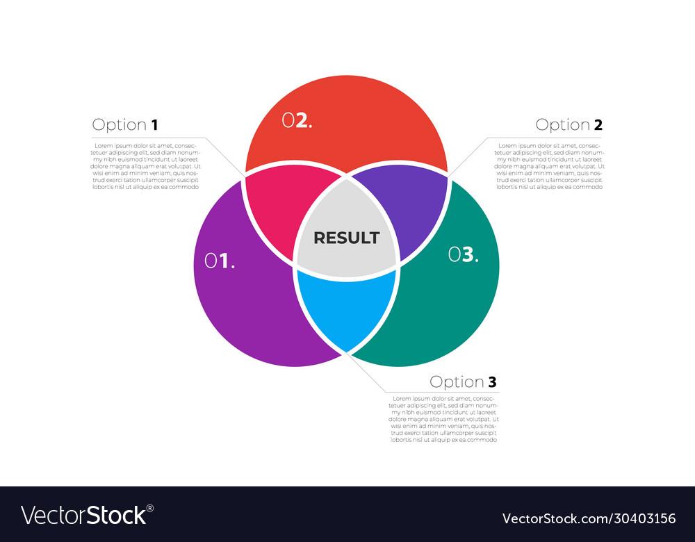 Venn diagram infographic template