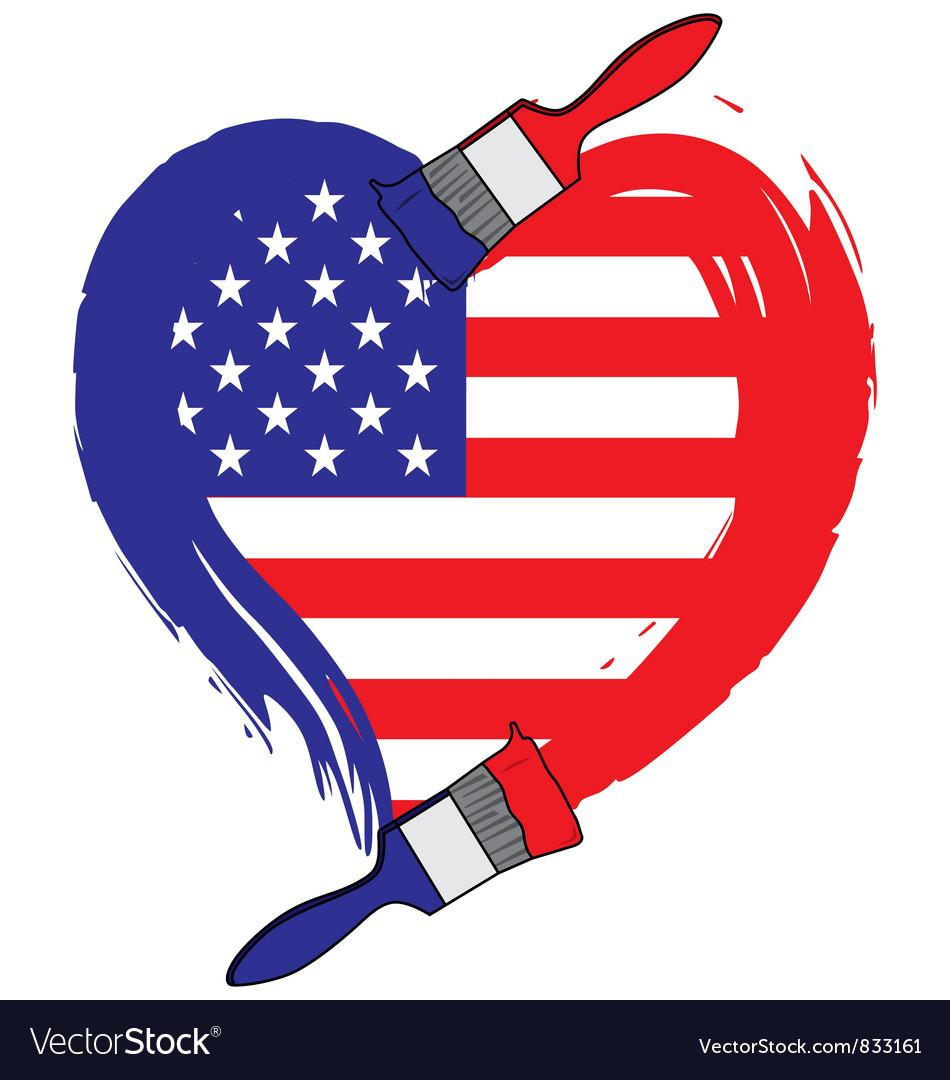 America grunge flag