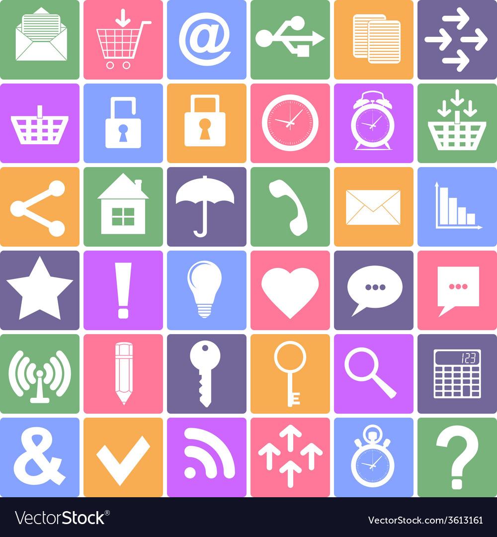 Basic icons set Apps Smartphone sign icon