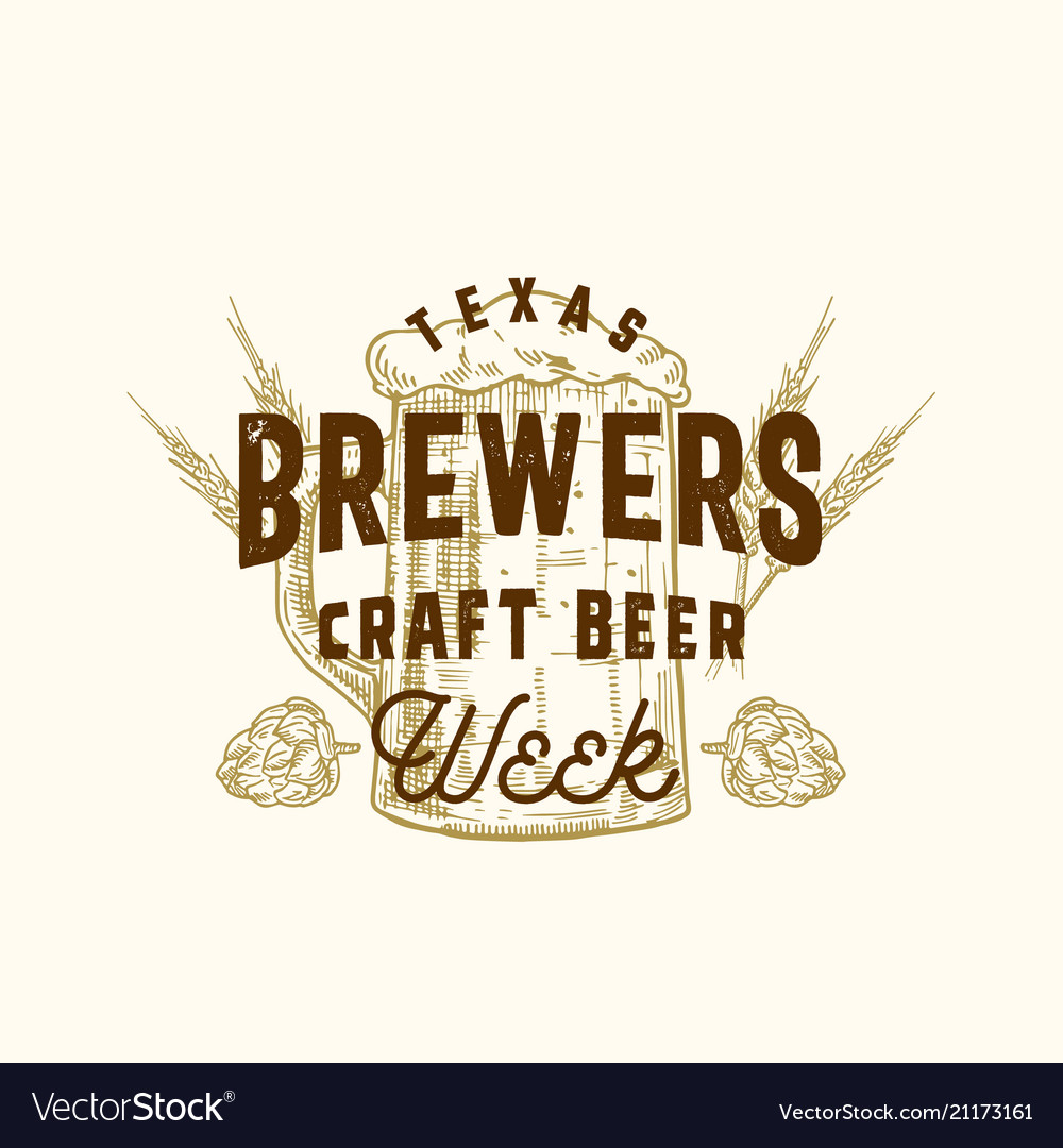 Brewers craft beer week abstract sign
