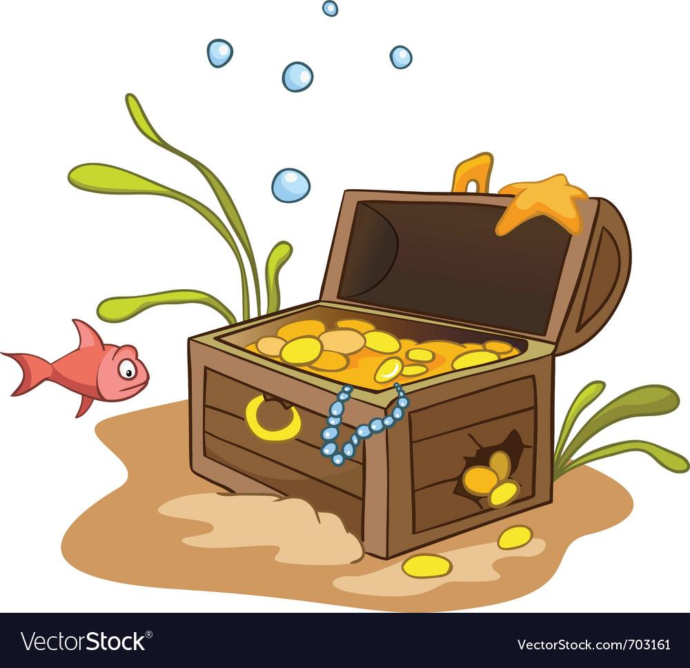 cartoon underwater royalty free vector image vectorstock
