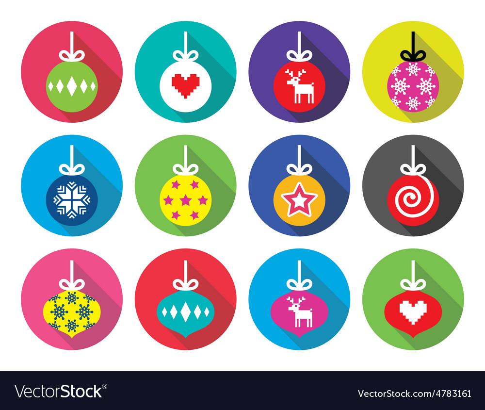 Christmas ball Christmas bauble flat design icons